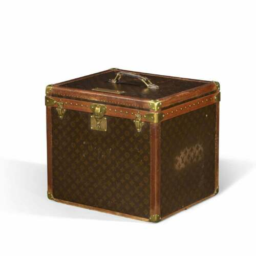 Louis Vuitton Monogram Steamer Cube Trunk with Tray Saks Fifth Avenue Luggage