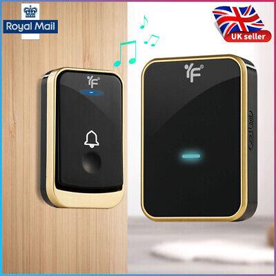 UK Home Security Wireless Doorbell Waterproof AC 100-240V 300M Range Door Bell