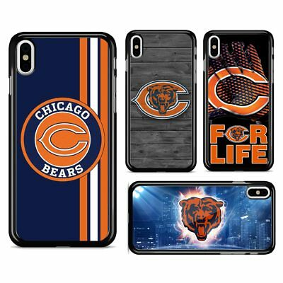 Chicago Bears NFL Football Hard Phone Case Cover for iPhone 7 8 Plus X XR XS MAX