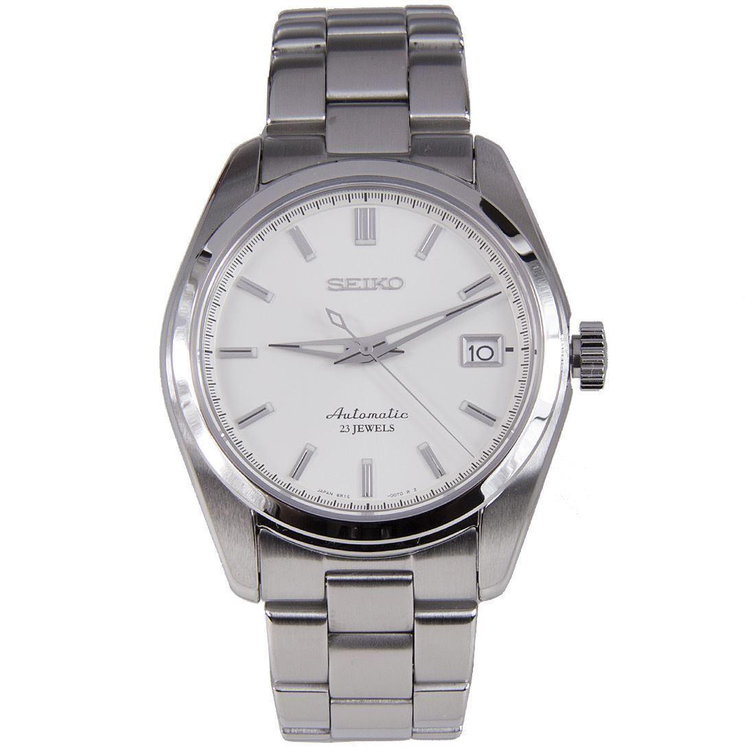 Seiko Mechanical Sarb035 Wrist Watch For Men Silver Beige