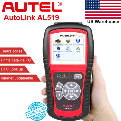 Autel AutoLink AL519 OBD2 EOBD CAN Car Scanner Diagnostic Fault Code Reader Tool