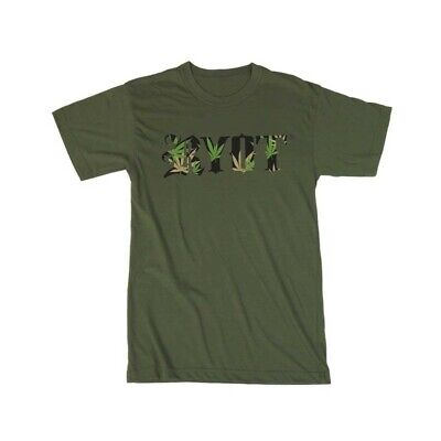 420 RYOT T-Shirt Leaves Logo Military Green 100% Cotton XL Free Shipping!