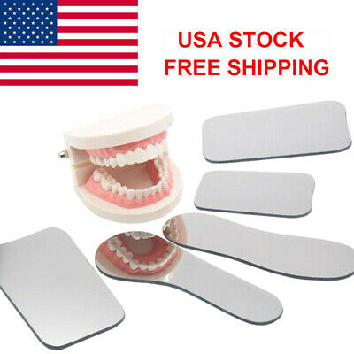 Us 5pcs Dental Ortho Intra Oral Photography Mirror Glass Reflector Mouth Mirror