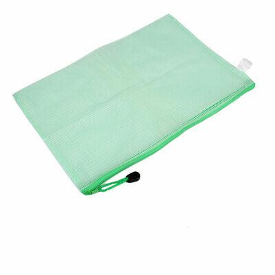 Grid Pattern Plastic A4 File Document Folder Holder Storage Bag Pocket Organizer