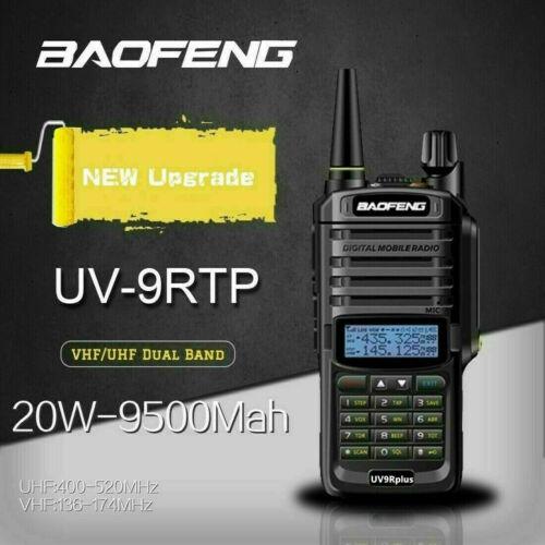 Baofeng 20W 9500mah UV9R-PLUSTP Walkie Talkie VHF UHF Radio Station Transceiver