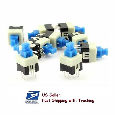 20 Pcs Push Button Non-latching Momentary On-off Switch 7x7mm 6-pin Dip - Usa