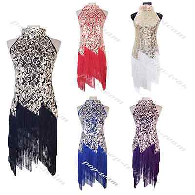 1920s Vintage Flapper Dress Gatsby Charleston Art Deco Sequin Fringe Party Dress - 20s Costume