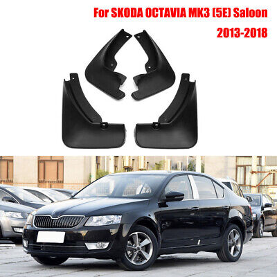 5E Saloon New Set Splash Guards Mud Guards Flaps For 13-2018 SKODA OCTAVIA MK3