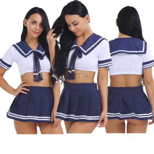 Chaussures Femme Pom-Pom Girl Costume Cheer High School Girl Cosplay Fancy Dress Mini Jupe