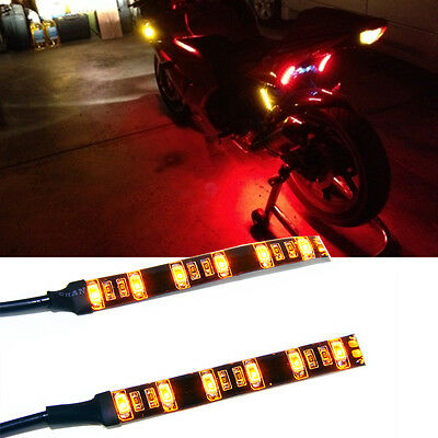 2x Universal Motorcycle Bike Amber LED Turn Signal Indicator Blinker Light 5630!