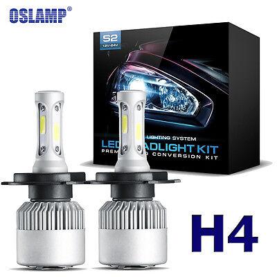 Oslamp H4 9003 760W COB LED Headlight Hi/Lo Beam Bulbs Kit 6000K HID Replacement