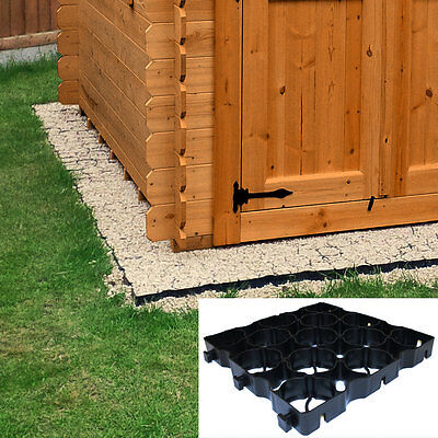 8' x 8' ECO SHED BASE KIT - WEED FABRIC & 64 TRUEPAVE PLASTIC PAVERS, Drive Deck