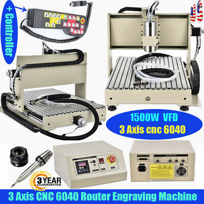 Usb 3axis 1.5kw Vfd Cnc 6040 Router Engraver Engaving Milling Carvingcontroller