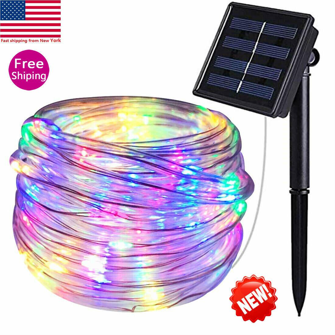 Solar powered Twinkle Outdoor garden night Fairy String Waterproof Rope Lights