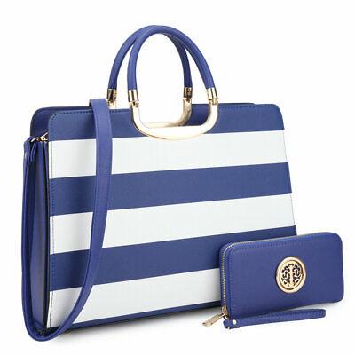 Dasein Handbags for Women Satchels Bags Shoulder Purse w/ Wallet Set