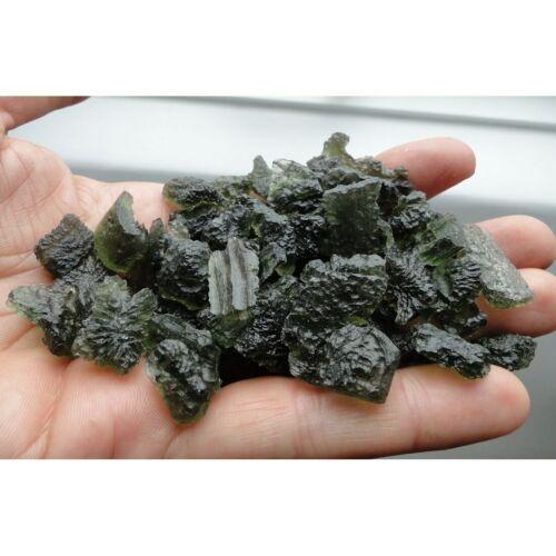Powerful Real Green Tektite MOLDAVITE - 100% natural from Czech Republic, Chlum