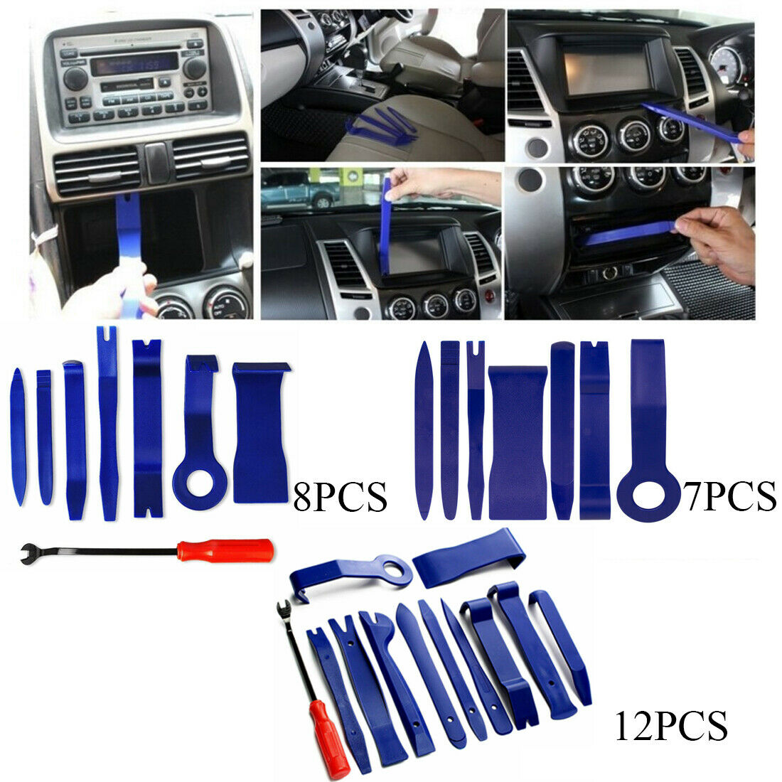 7 x Car Trim Door Panel Dash Centre Console Remover Removal Kit Tool Set Pry