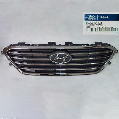 New OEM Front Bumper Radiator Grille 86350 C1100 for Hyundai Sonata 15-17