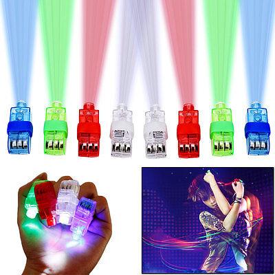 LED Finger Lights 40pcs Bright Light Up Ring Laser Rave Party Glow Beam Favors - Led Finger Light