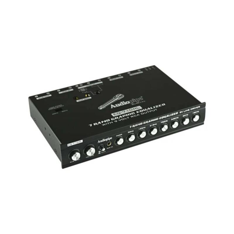 Audiopipe EQ-710HL  7 Band Graphic Car Audio Equalizer with Hi/Lo Converter