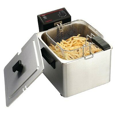 Caterlite Light Duty Single Tank Countertop Fryer 8Ltr EBCD274-A