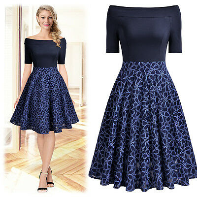 Women's A Line Lace Dress, Floral Vintage Style for any - Floral Occasion Dress