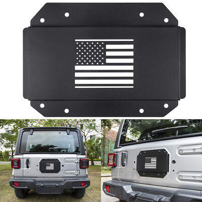 Tailgate Vent Plate Cover Spare Tire Carrier Delete Tramp For Jeep Wrangler JL #