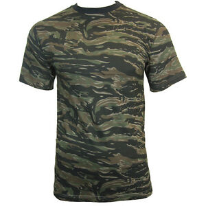 black tiger stripe army camo camouflage t shirt all sizes. Black Bedroom Furniture Sets. Home Design Ideas