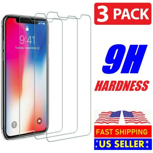 3 pack For iPhone 11 Pro MAX 6s 7 8 Plus X Xs XR Tempered GLASS Screen Protector Cell Phone Accessories