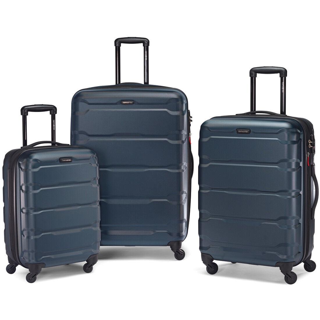 Samsonite Omni Hardside 3 Piece Nested Spinner Luggage Set (20, 24, & 28 Inch) Teal