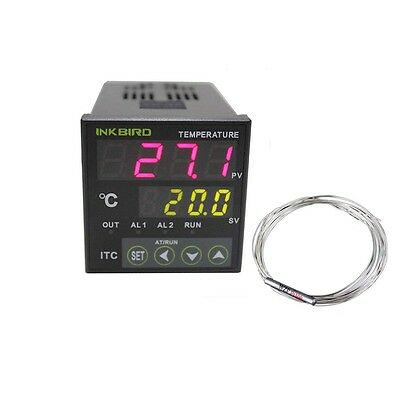 Itc-100rl 12v 24v Pid Temperature Controller Pt100 Relay Probe Heater Temp Fan