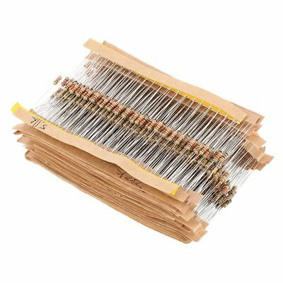 860pcs 1 Ohm-1m Ohm 14w Carbon Film Resistors Assortment Kit 43 Values W7k2