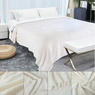 Plush Flannel Fleece Throw Blanket Soft Warm Microfiber Blan