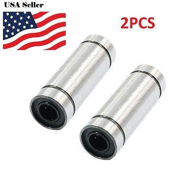 2pcs Lm6luu 6mm Shaft Diameter Sealed Linear Motion Bearing