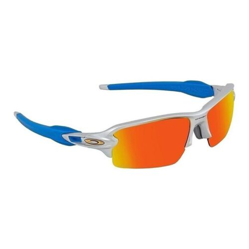 NEW Oakley - Flak 2.0 (AF) - Sunglasses Silver / Prizm Ruby, OO9271-3361