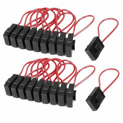 20pcs 30A Wire In-line Fuse Holder Block Black Red for Car Boat Truck  K9EA