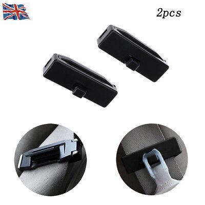 2 Stück schwarz Autositz Sicherheit Stopper Schnalle Einsteller Gürtelclips (Auto Sitz Stopper)