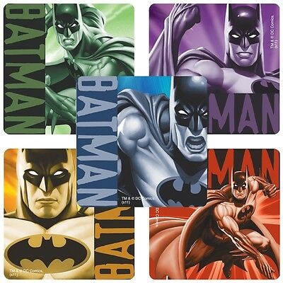 Batman Stickers x 5 Party Favours Loot Ideas - Batman Birthday Favours Loot Fun - Fun Party Ideas