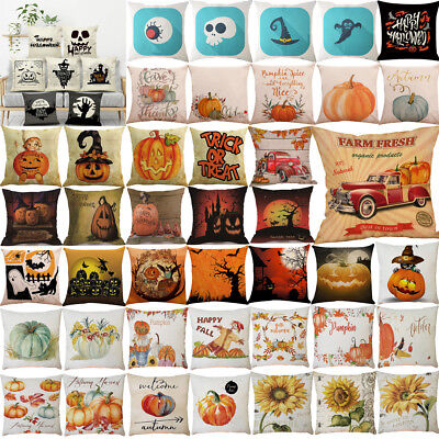 Halloween Pillowcase - Halloween Pillows Cover Fall Decor Pillow Case Sofa Waist Throw Cushion Cover
