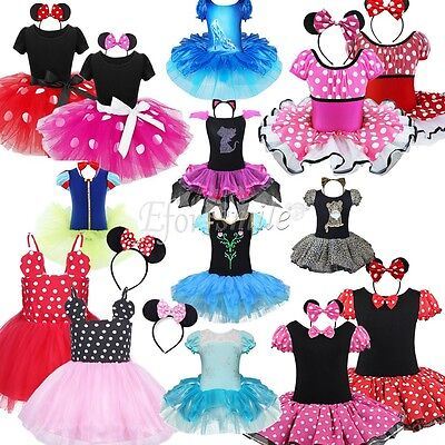 Baby Toddler Girls Kids Minnie Mouse Costume Party Outfit  Fancy Tutu Dress - Kid Mouse Costume