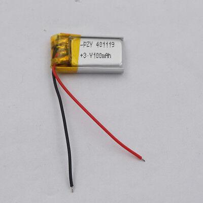 3.7V 100 mah Li-Polymer Rechargeable Li-ion battery 401119 for Sat Nav mp3 pen