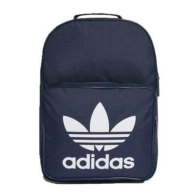 adidas originals Backpack Blue White Classic Retro Trefoil Logo Gym Sports Bag