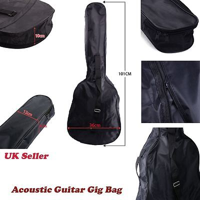 """UK Size 38"""" 3/4 Acoustic Classical Guitar Bag Carrying Carry Case Holder Sleeve"""