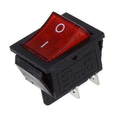 Red Light 4 Pin Dpst Onoff Snap Rocker Switch 15a250v 20a125v Ac 28x22mm Ad