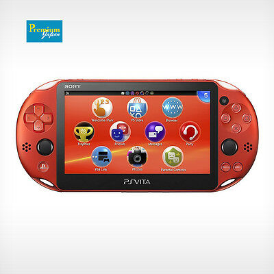 Sony Pch 2000Za26 Playstation Ps Vita Wi Fi Metallic Red Console Japan Model New