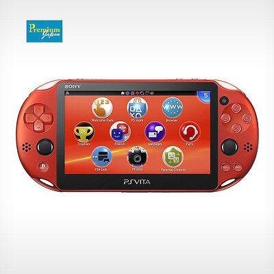 Sony Pch 2000Za26 Playstation Ps Vita Wi Fi Metallic Red Console Japan Model New