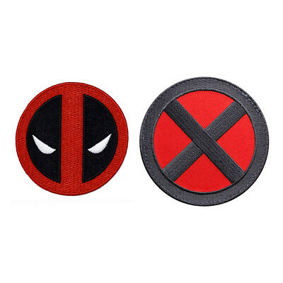 Deadpool X-force X-men Embroidered Iron on Patch (2pc Bundle)