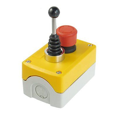 Red Emergency Stop Latching 2-direction Joystick Switch