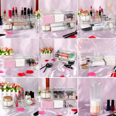 Drawers Makeup Cosmetic Jewelry Organizer Large Acrylic Storage Display Box Case