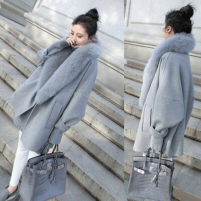 Ladies Fashion Loose Overcoat Winter Womens Coat Long Jacket Faux Fur Parka Tops